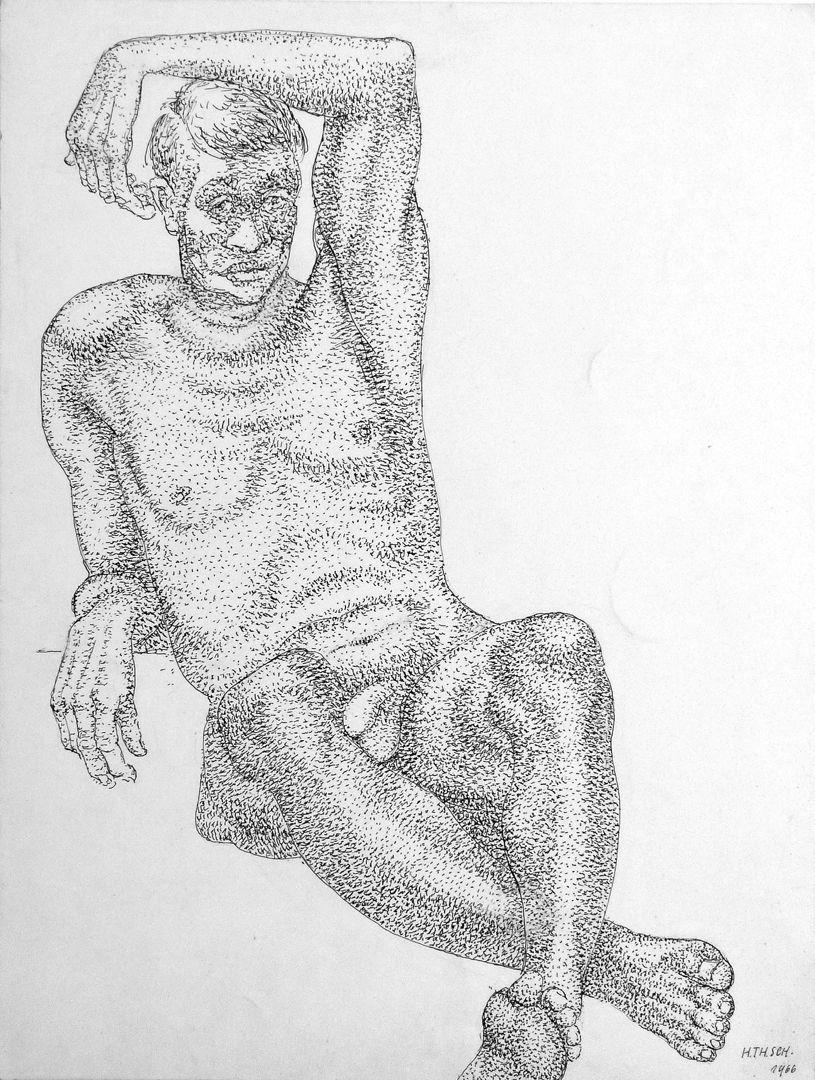 Male nude study Male nude study