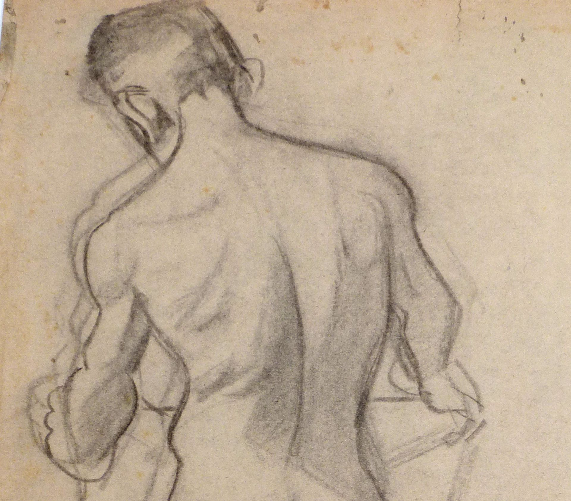 Nude study of a young man Detail