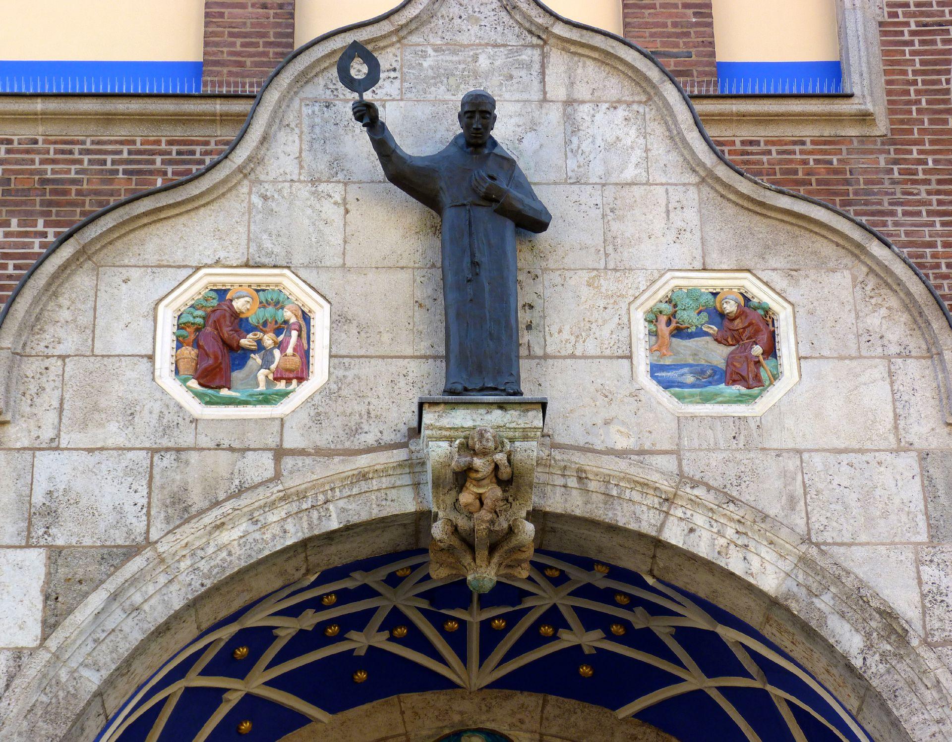 St. Anton Church Entrance hall, curved pediment
