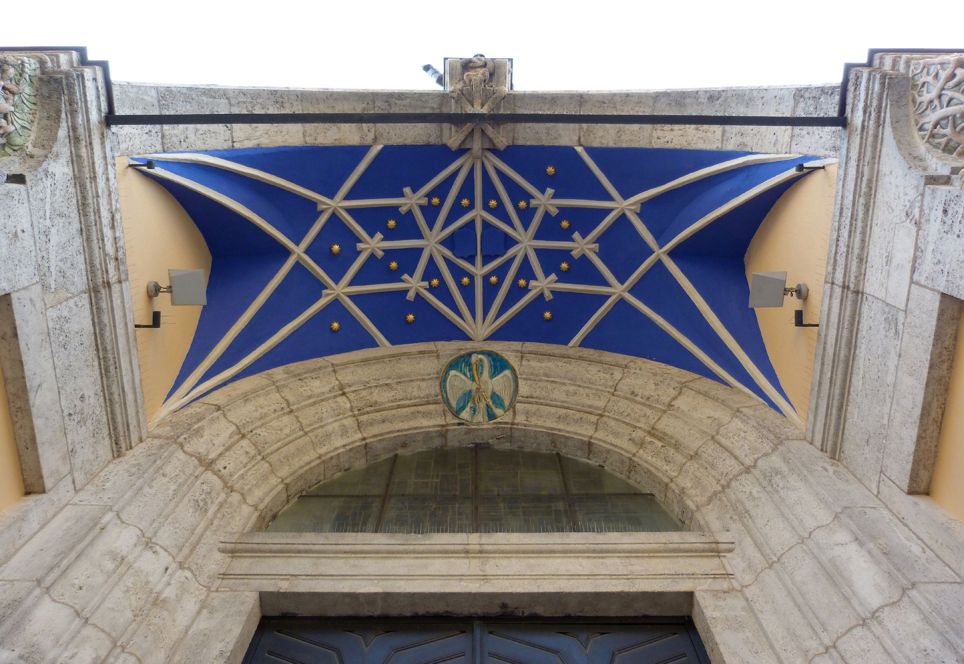 St. Anton Church Entrance hall, reticulated vault