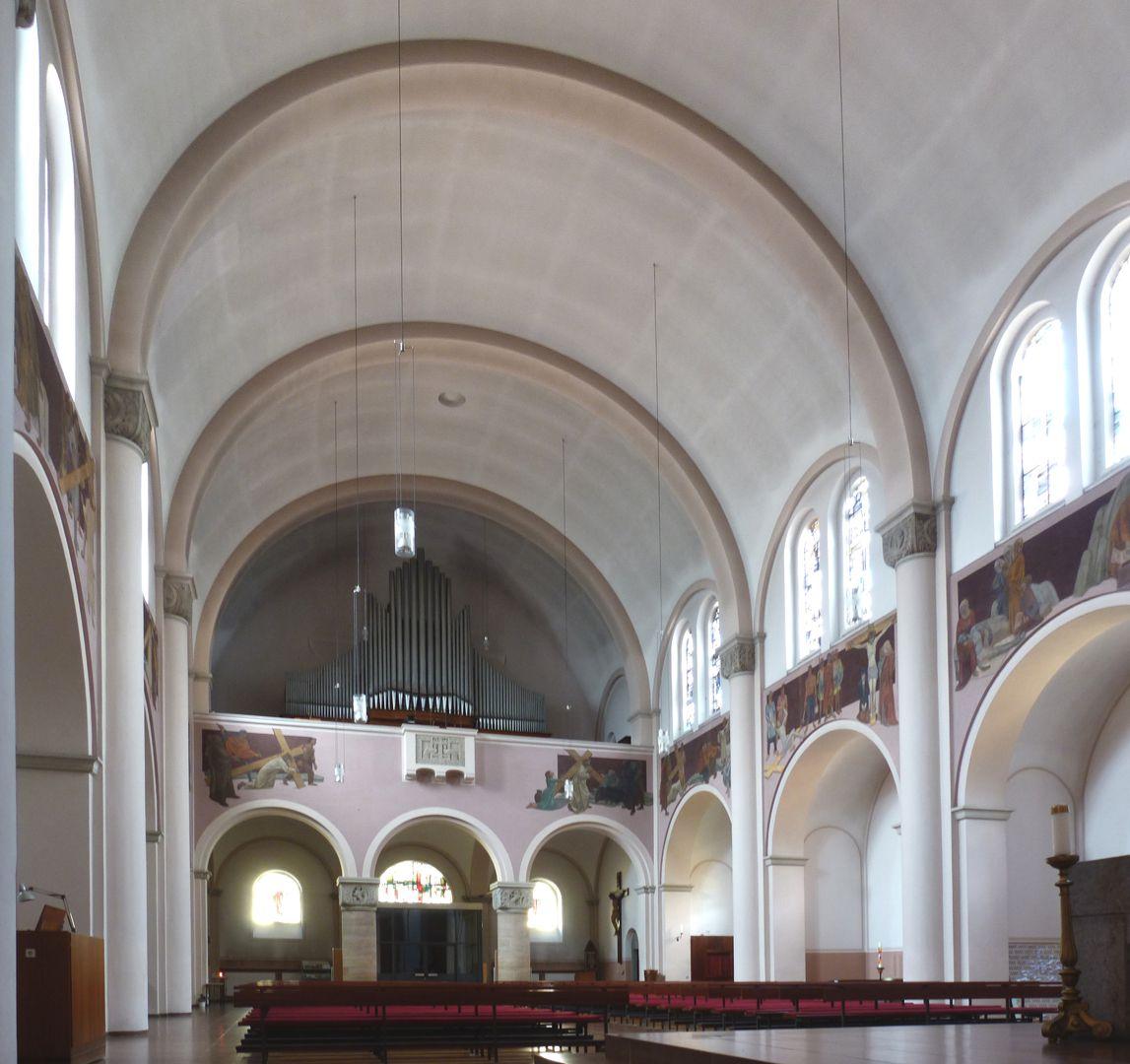 St. Anton Church View to the organ loft