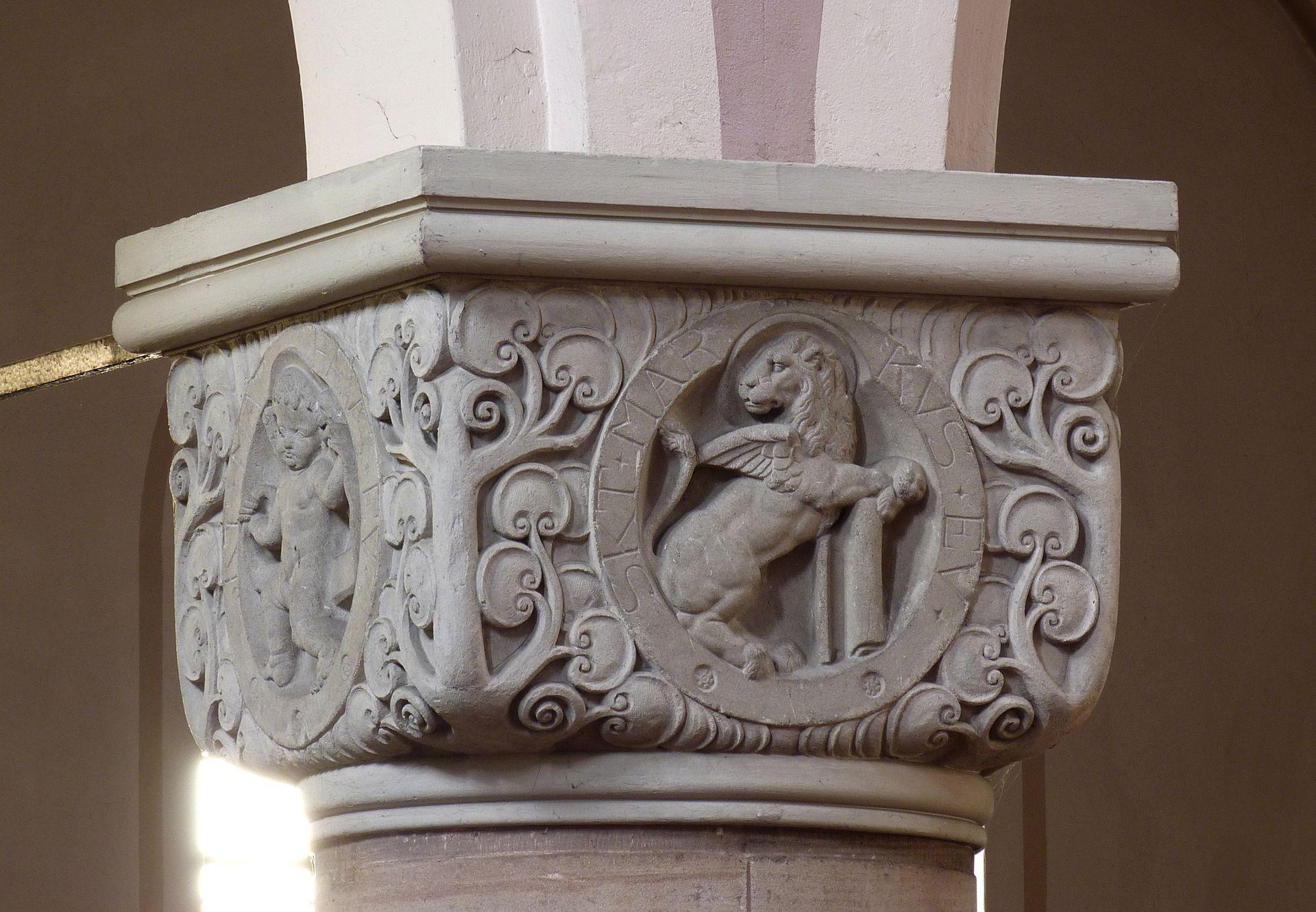 St. Anton Church Cubic capital