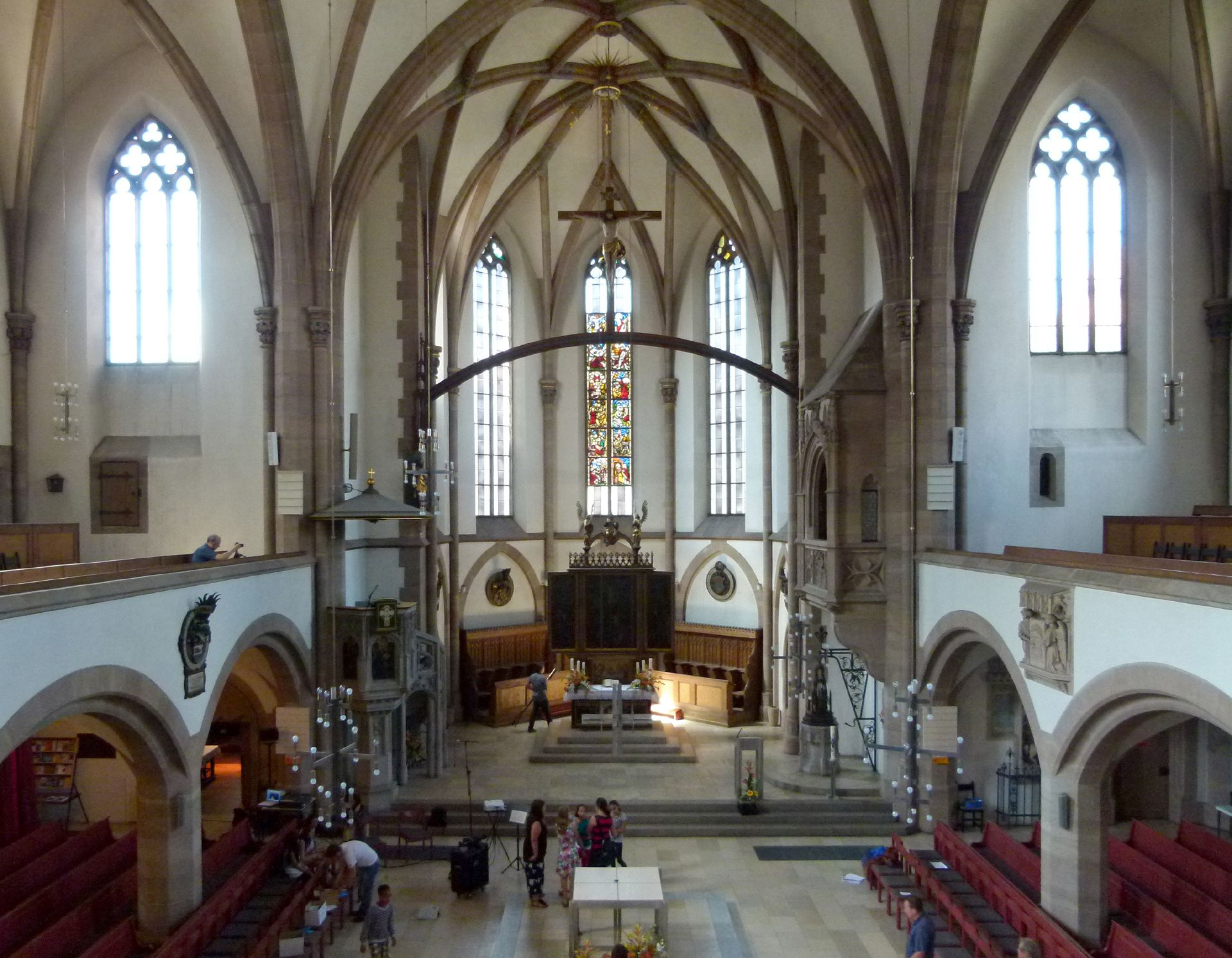 St. Peter Church Interior, view from east to west