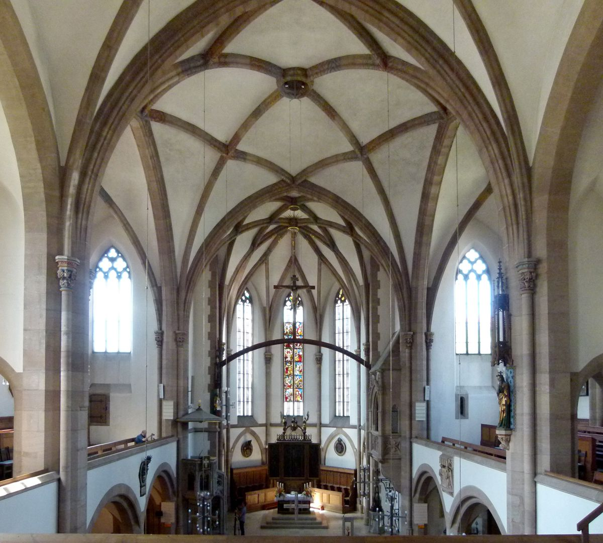 St. Peter Church Interior, view from east to west with vault