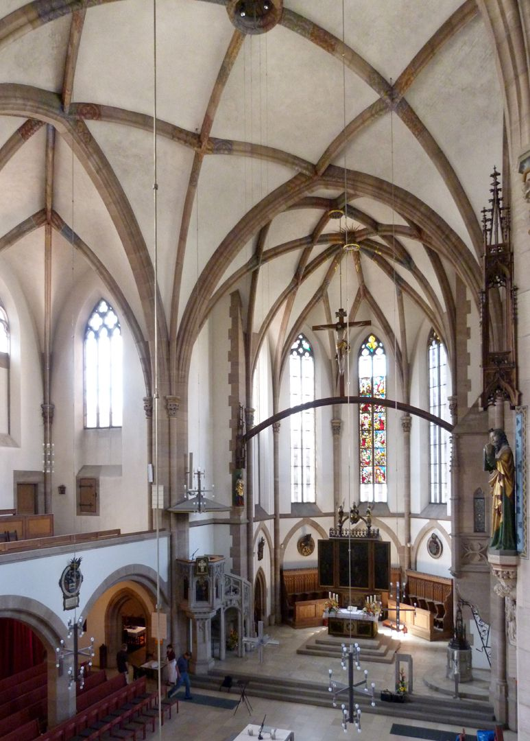 St. Peter Church Interior, diagonal view from south to west