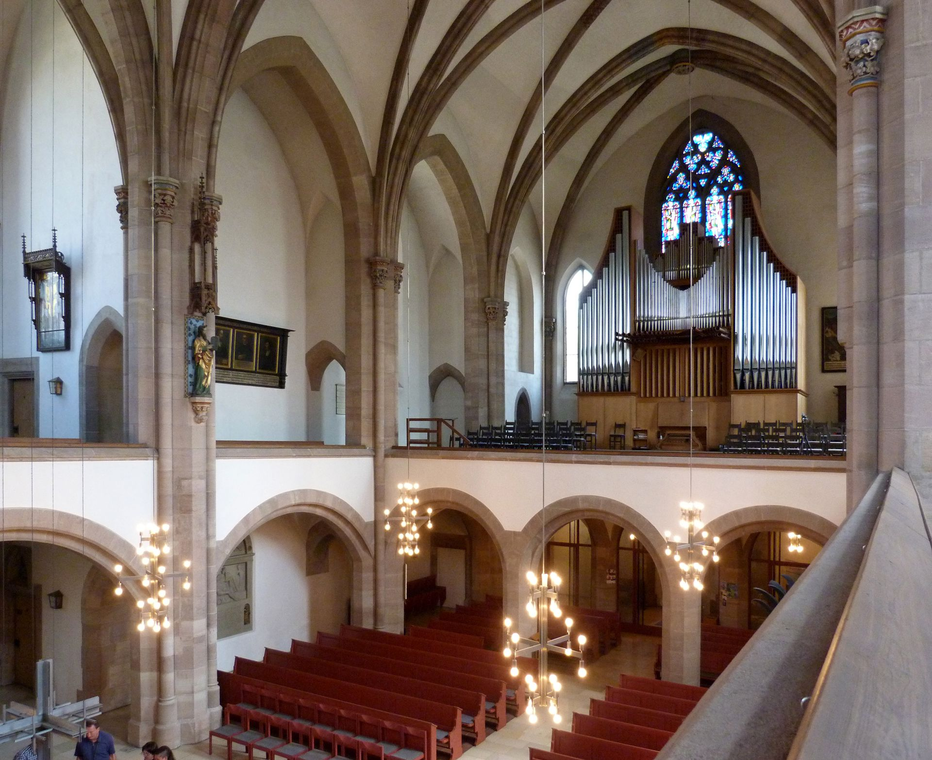 St. Peter Church Interior, view to the organ loft