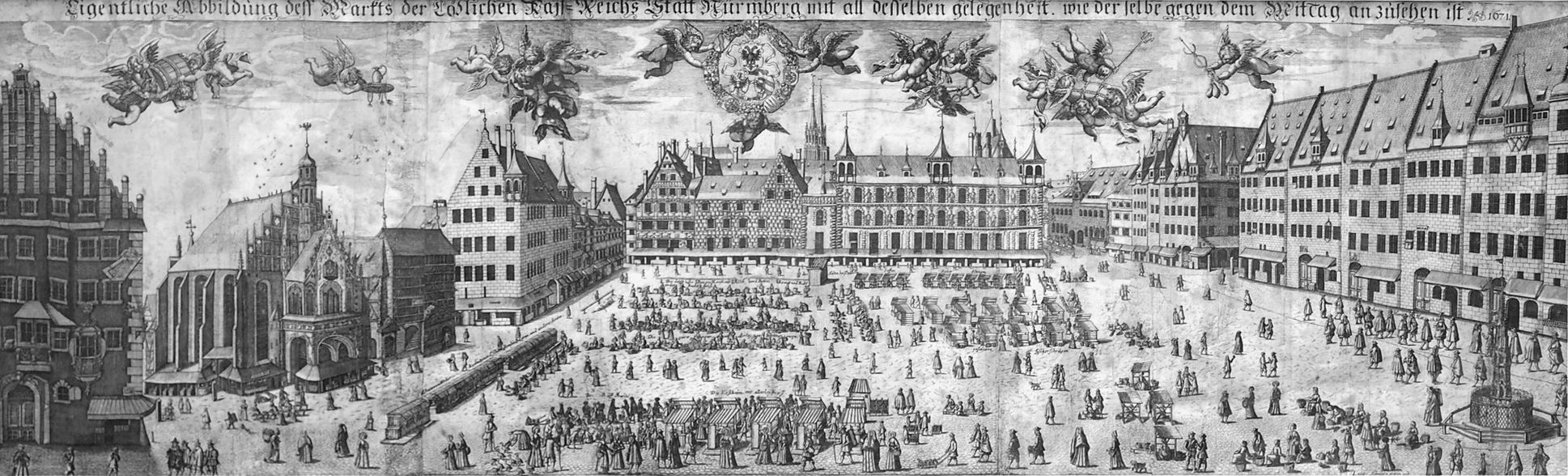 Real image of the market of the Imperial City of Nuremberg in detail