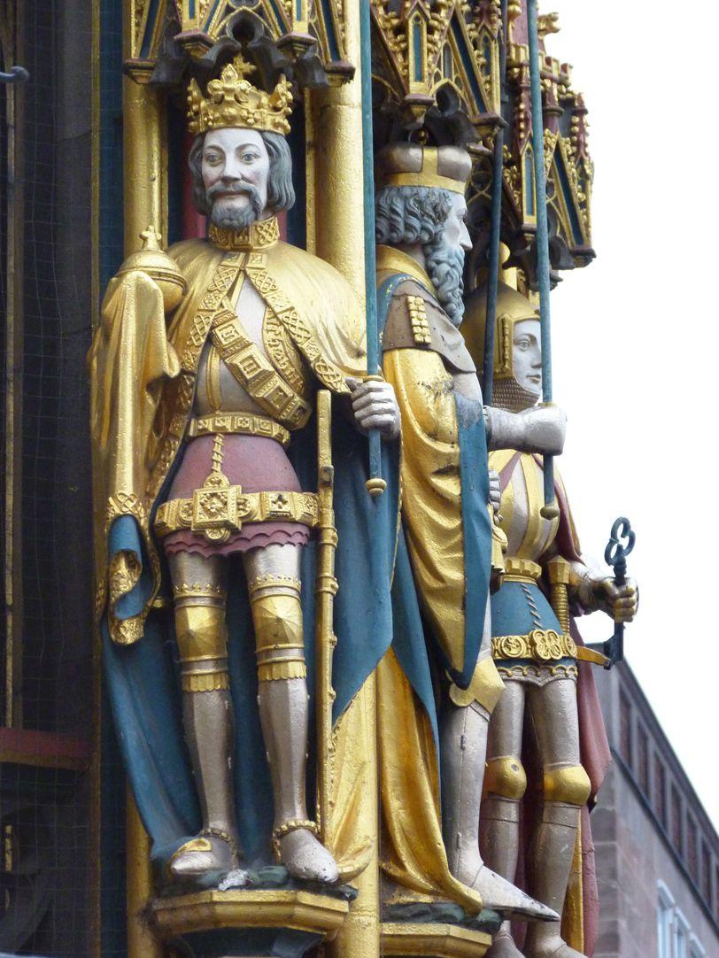 Beautiful fountain King of Bohemia
