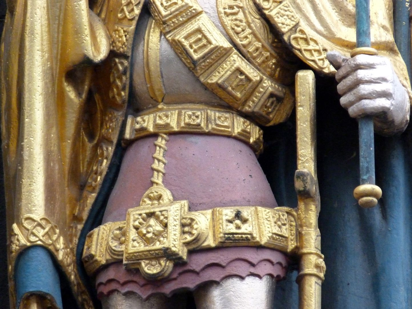Beautiful fountain King of Bohemia, detail