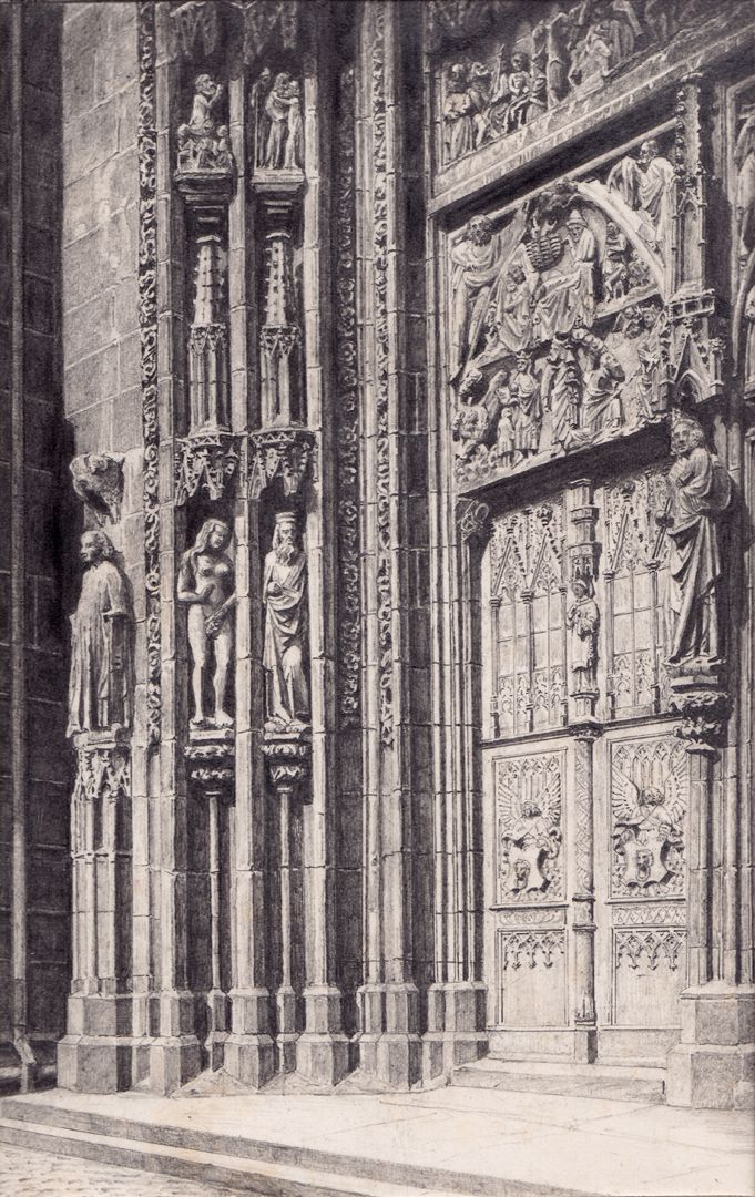 North door of the main portal of St. Lorenz Church North door of the main portal of St. Lorenz Church