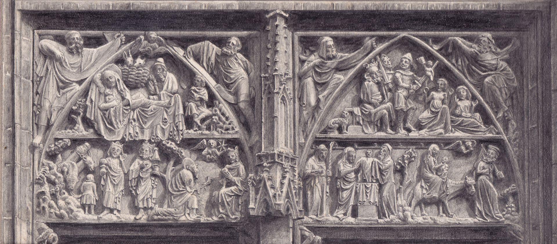 Tympanum register of the main portal of St. Lorenz Church , St. Lorenz Church, Tympanum register of the main portal