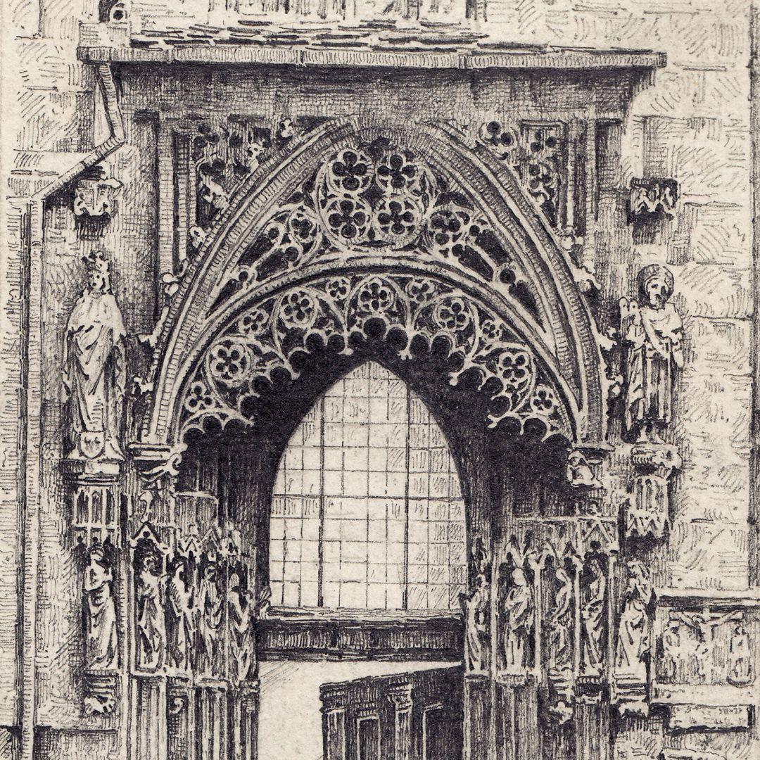 Bridal portal of St. Sebaldus Church Detail