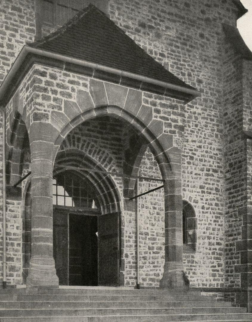 """St. Mauritius Narthex / photo from: """"Otto Schulz"""", Friedrich Ernst Hübsch Verlag, 1929"""
