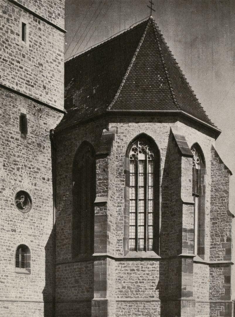 """St. Mauritius Apsis/ photo from: """"Otto Schulz"""", Friedrich Ernst Hübsch Verlag, 1929"""
