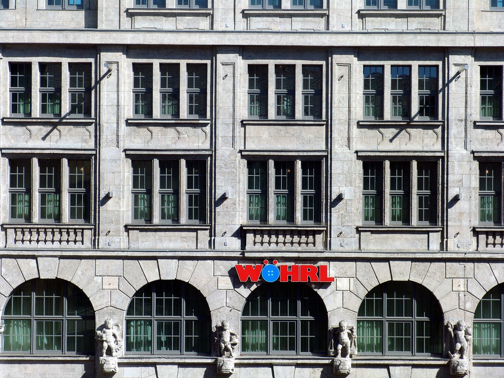 Former department store Tietz Front detail