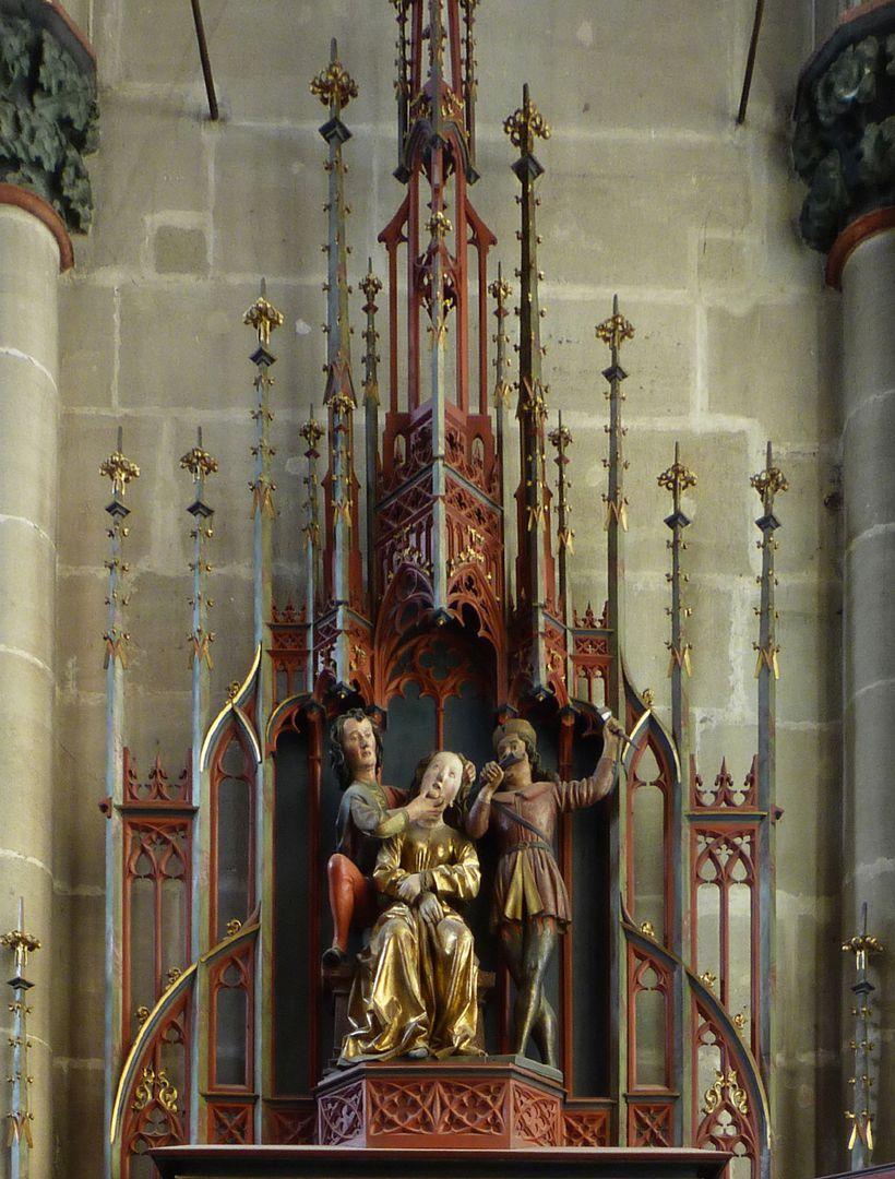 Sebaldus  Altar Gesprenge mit Martyrium einer Heiligen