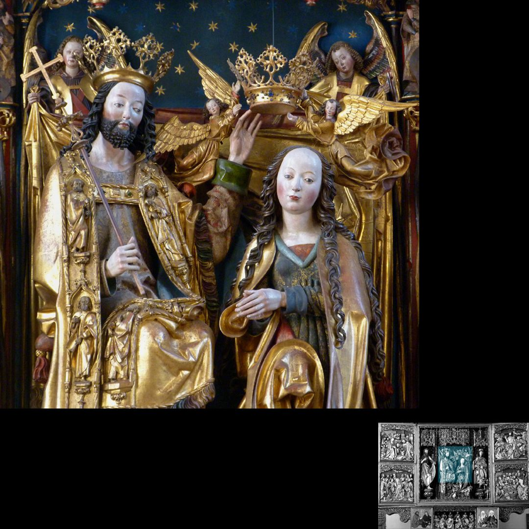 High Altar (Schwabach) Detail of the coronation of Mary