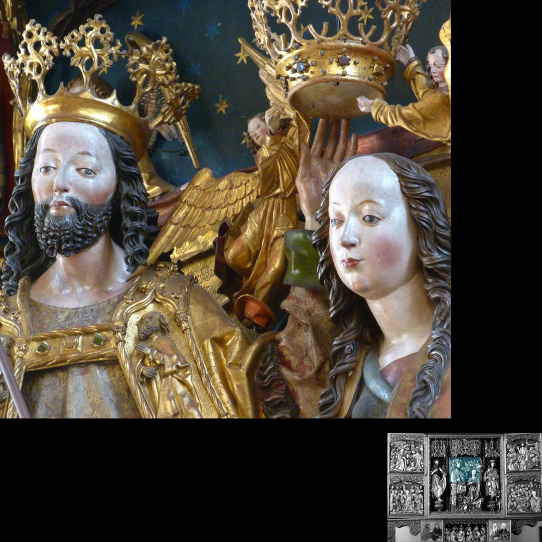 High Altar (Schwabach) Heads of Christ and Mary