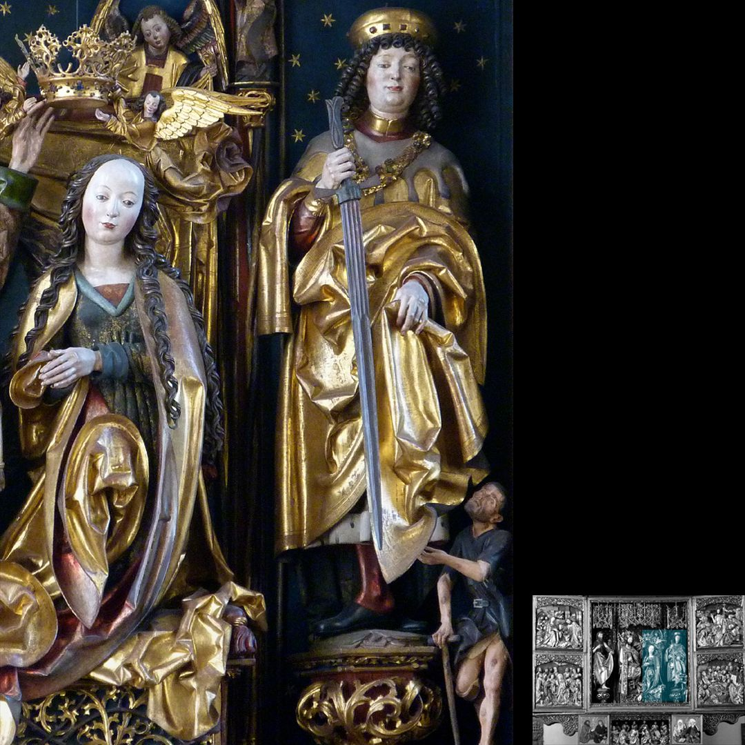 High Altar (Schwabach) Mary with St. Martin