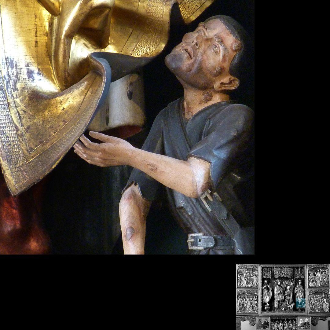 High Altar (Schwabach) Beggar, detail
