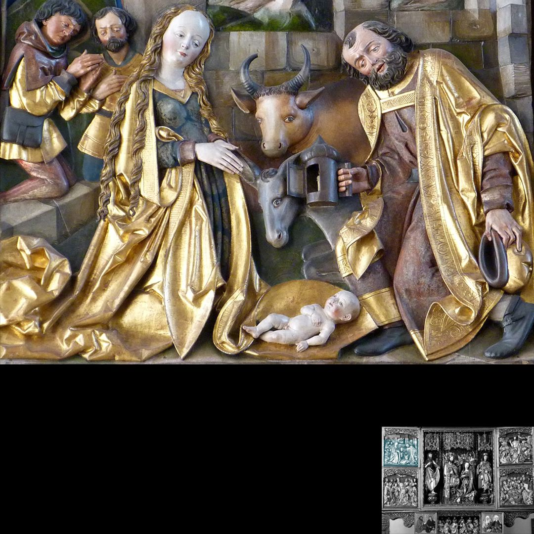 High Altar (Schwabach) Left wing: top, Christ´s birth, detail