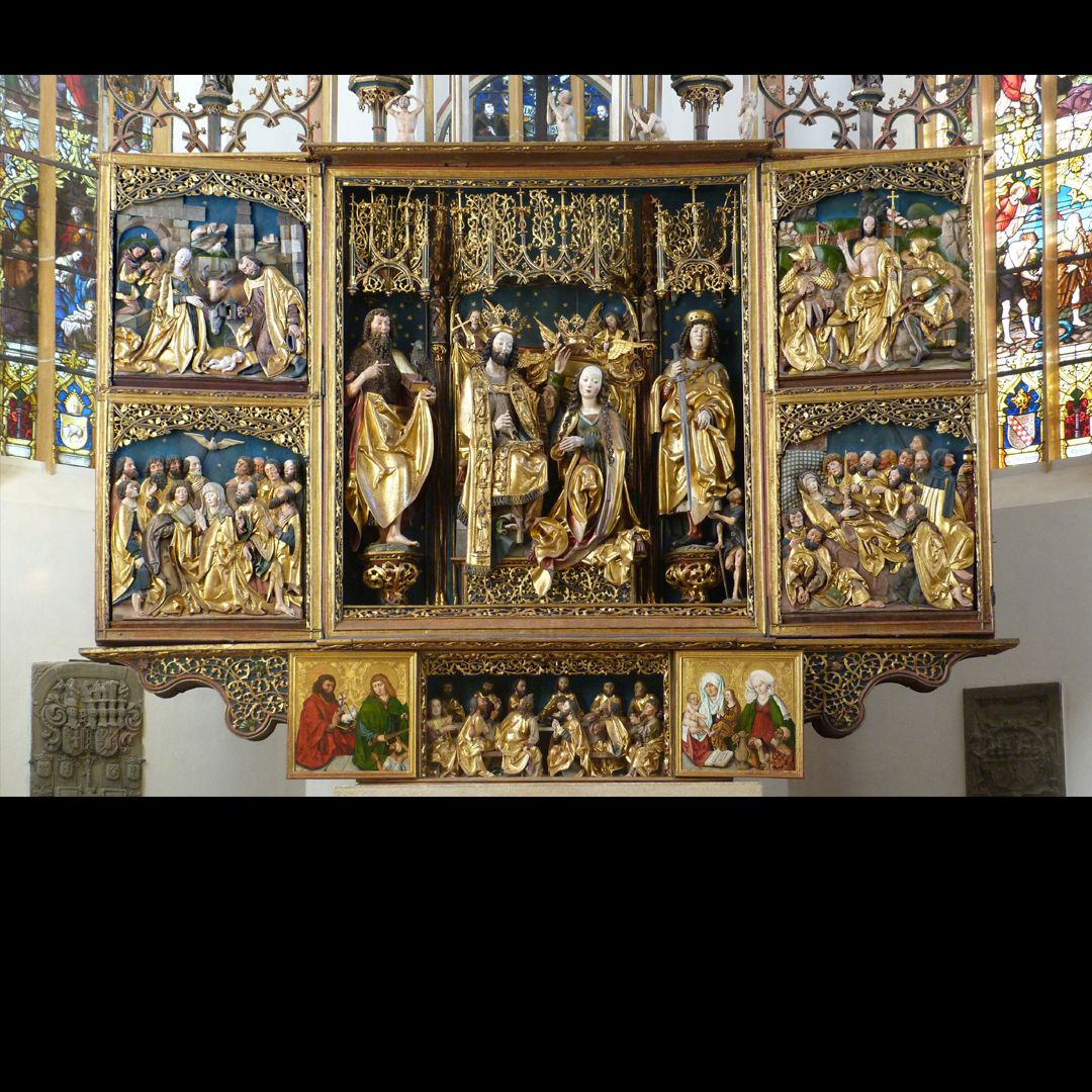 High Altar (Schwabach) Main part with predella, shrine and wings
