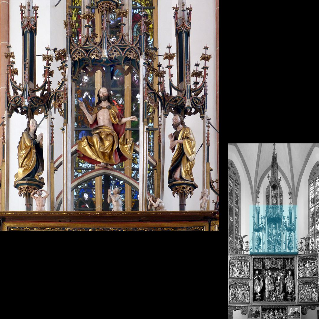 High Altar (Schwabach) Pinnacle decoration with Judge of the world and assistants