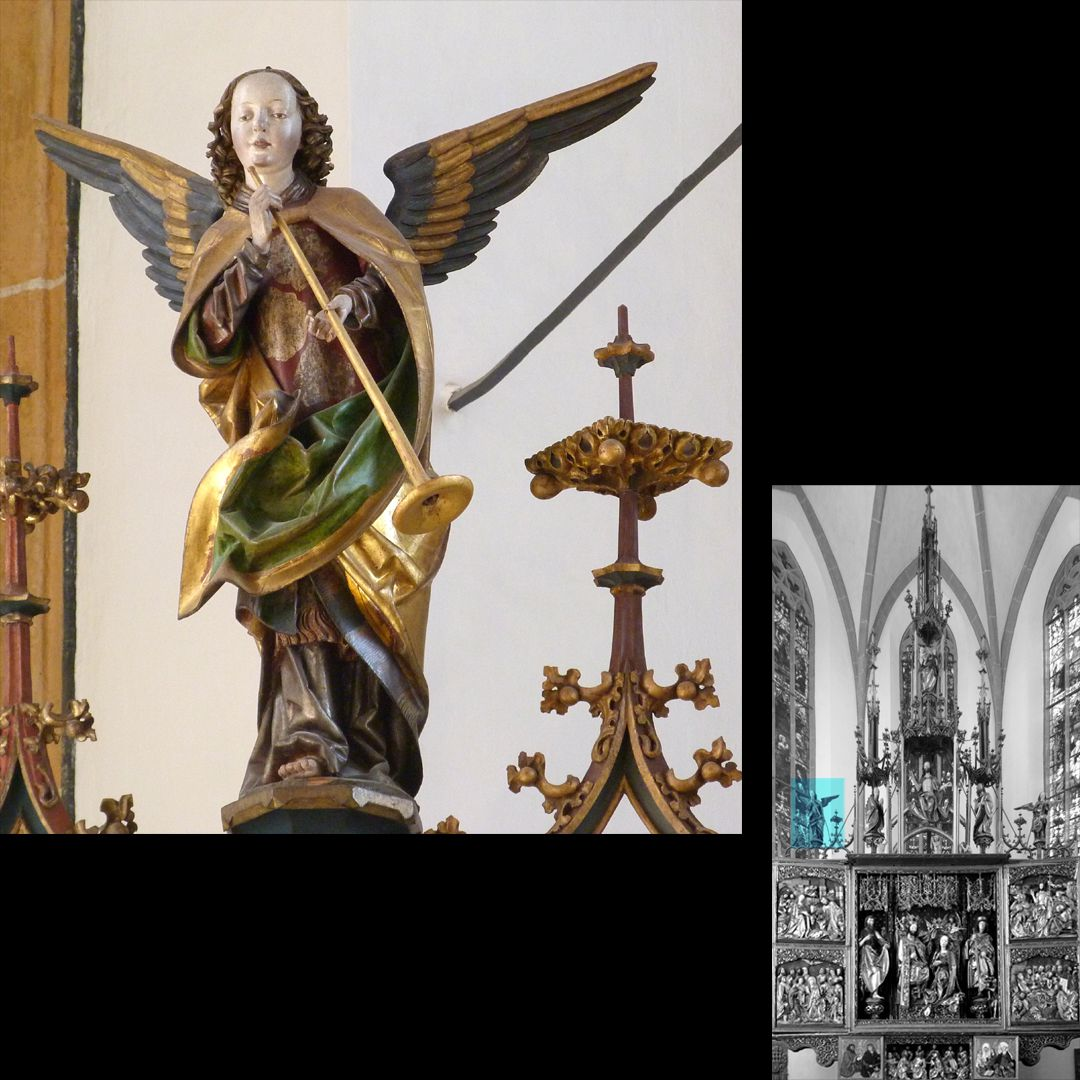 High Altar (Schwabach) Pinnacle decoration with trumpet angel