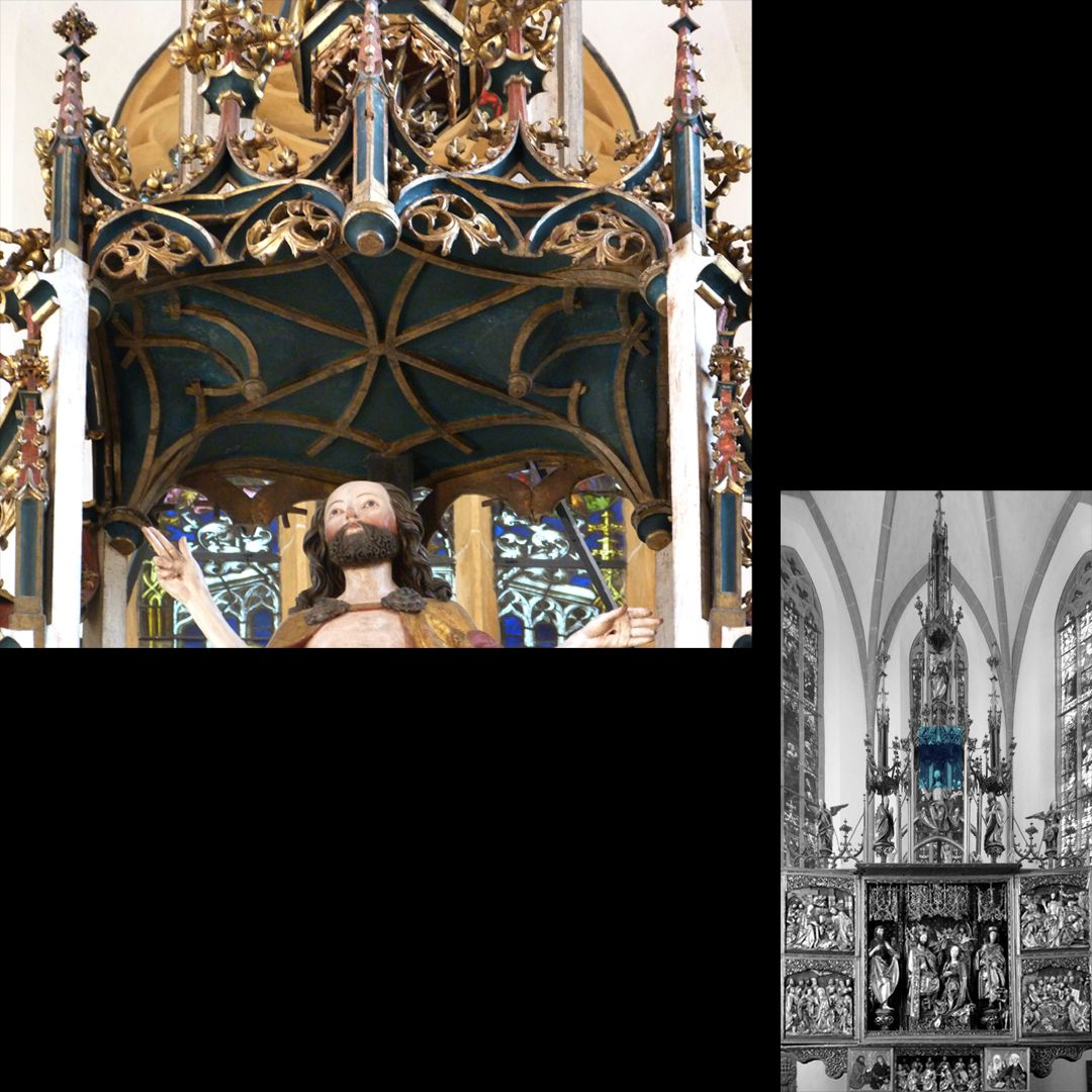 High Altar (Schwabach) Pinnacle decoration, vaulted canopy