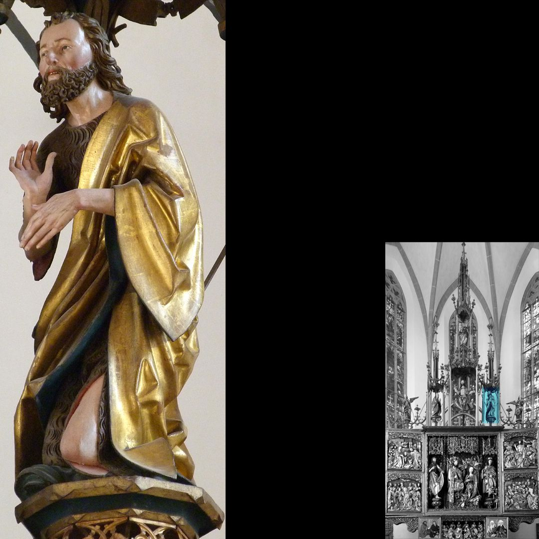 High Altar (Schwabach) Pinnacle decoration, John Baptist