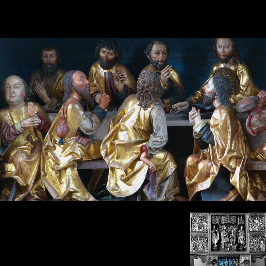 High Altar (Schwabach) Predella, Last Supper with Apostles on the left