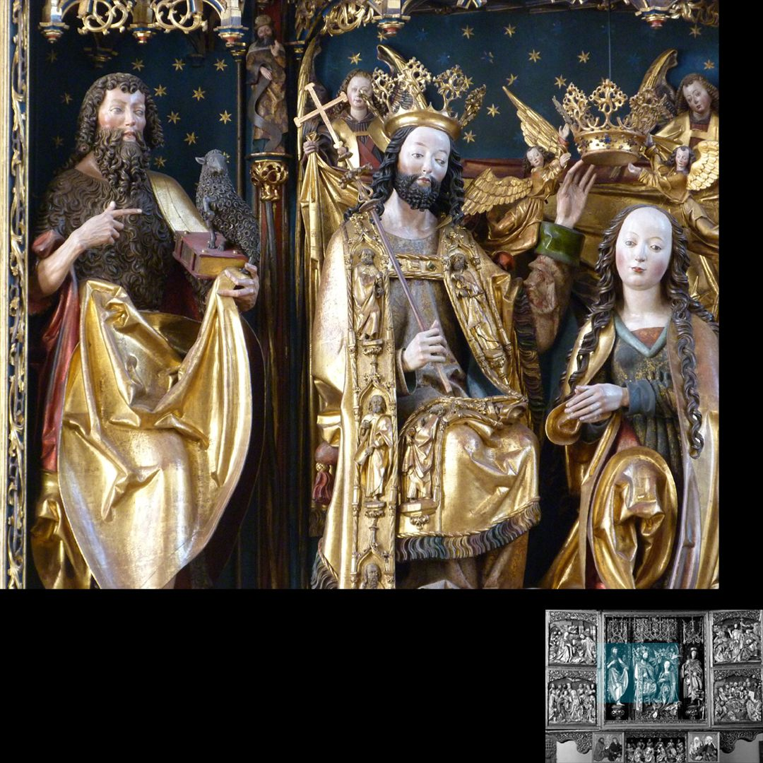High Altar (Schwabach) John Baptist, Christ and Mary