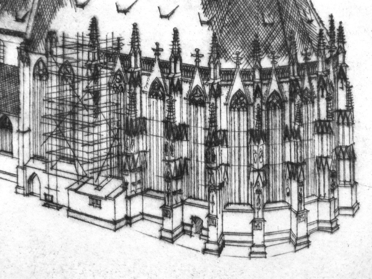 St. Sebaldus-Church in Nuremberg, 600 years hall choir, 1379 - 1979 Choir of St. Sebaldus-Church