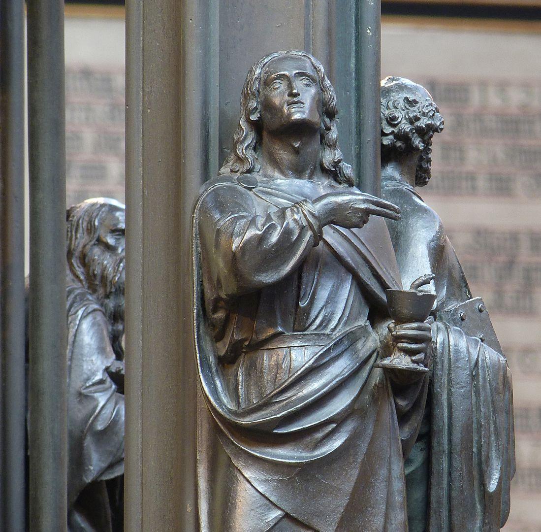Sebaldusgrab (Südseite) Johannes, Detail