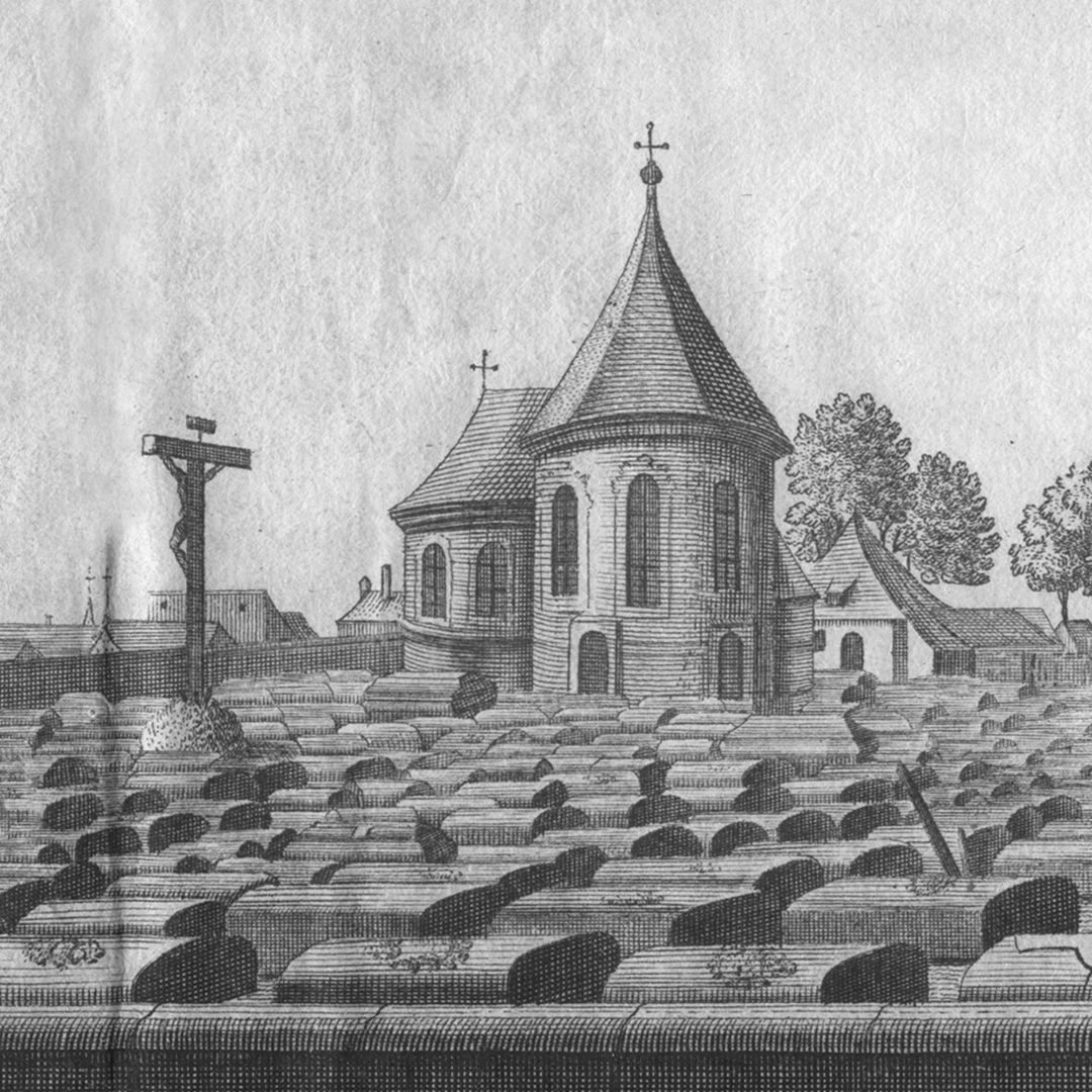 The great and anterior graveyard or churchyard of St. Johannis, a quarter of an hour from Nuremberg Detail view with Holzschuher Chapel