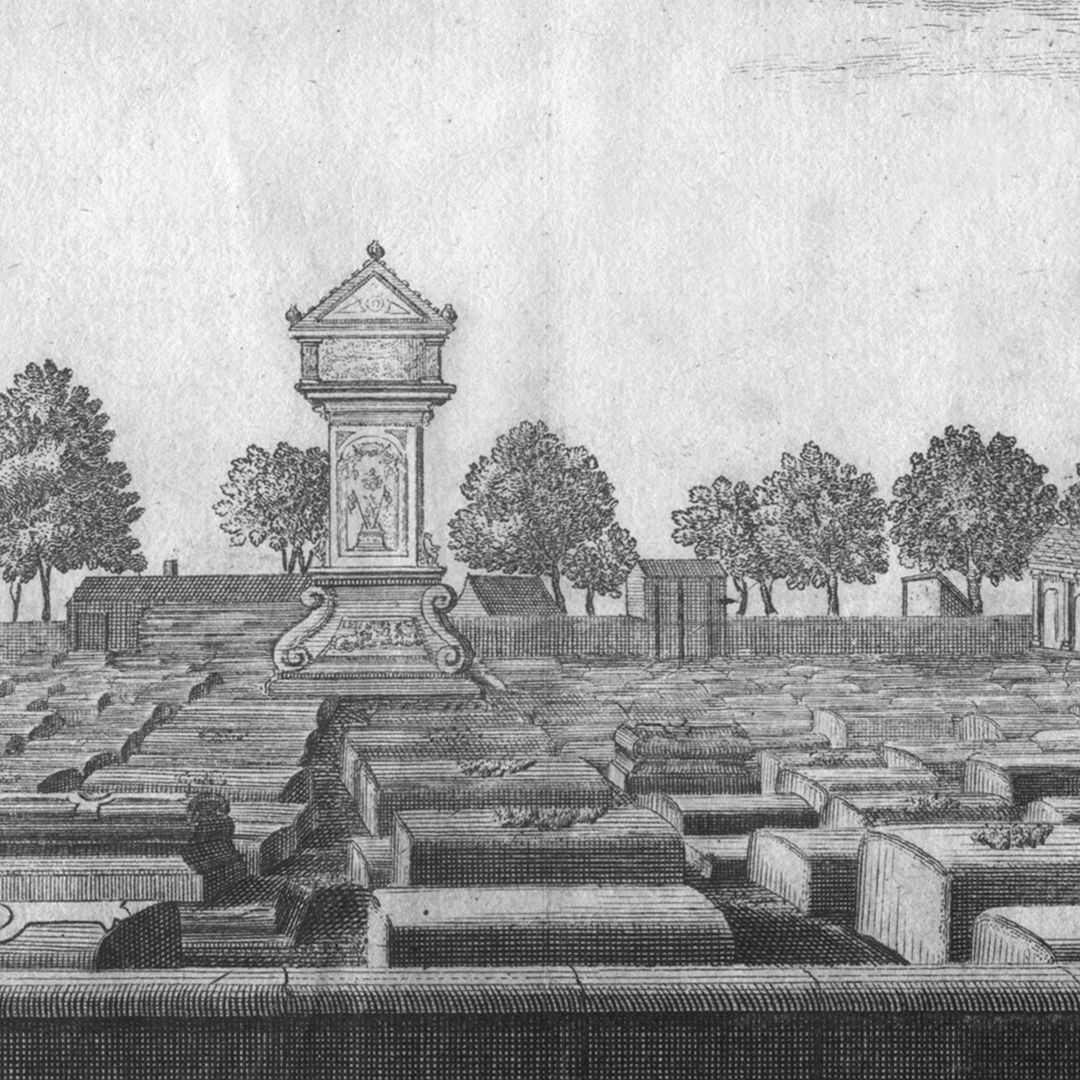 The great and anterior graveyard or churchyard of St. Johannis, a quarter of an hour from Nuremberg Detail view with the memorial stone of Wolfgang Münzer