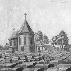 The great and anterior graveyard or churchyard of St. Johannis, a quarter of an hour from Nuremberg