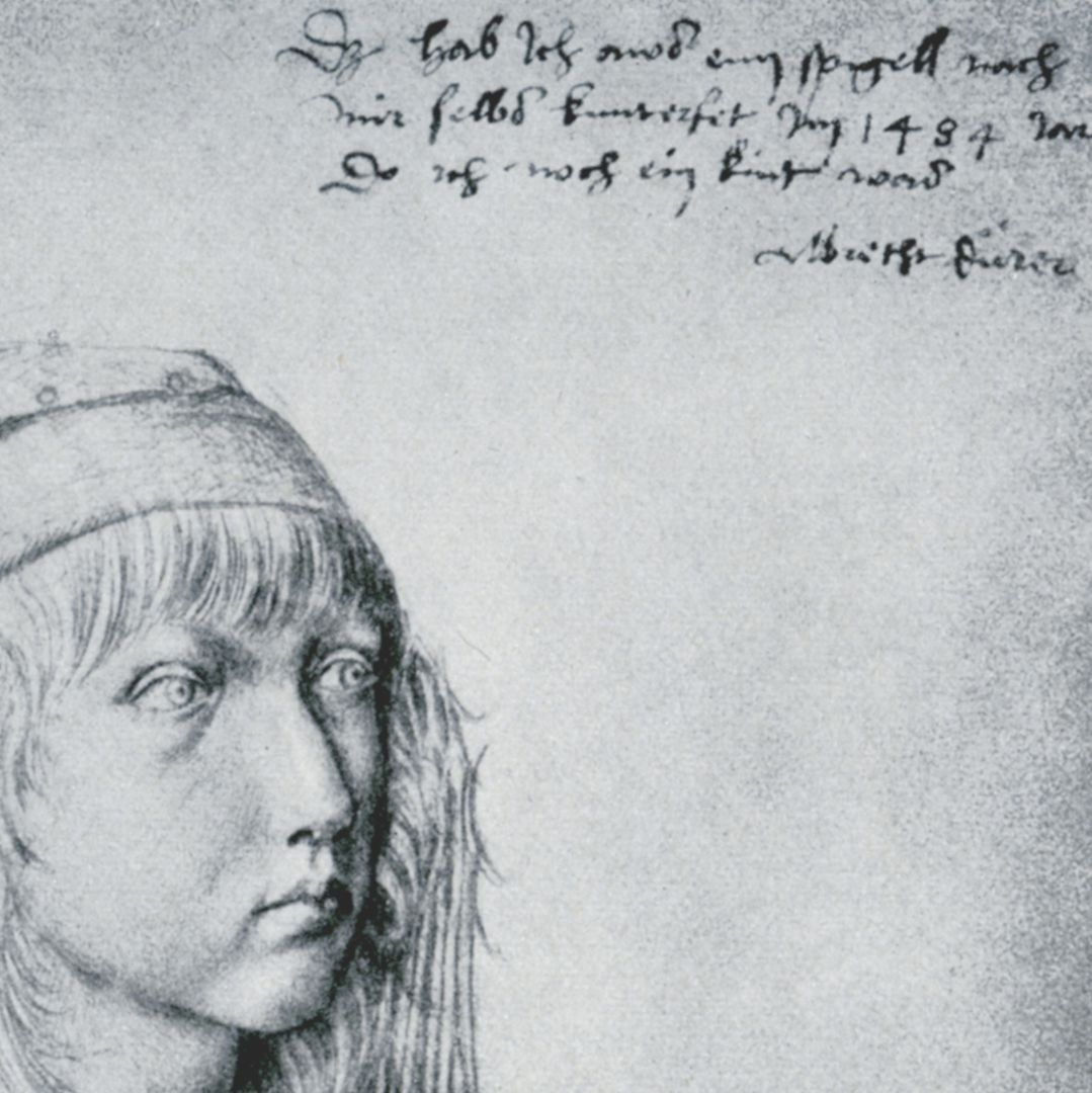 Self portrait This picture I drew myself from my true reflection in a mirror in the year 1484 when I was still a child. Albrecht Durer