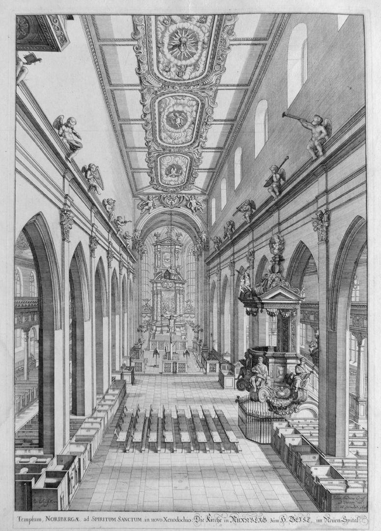 """Urbis Norimbergensis Insigniorum Templorum…"" Hospital-Church (Spitalkirche)"