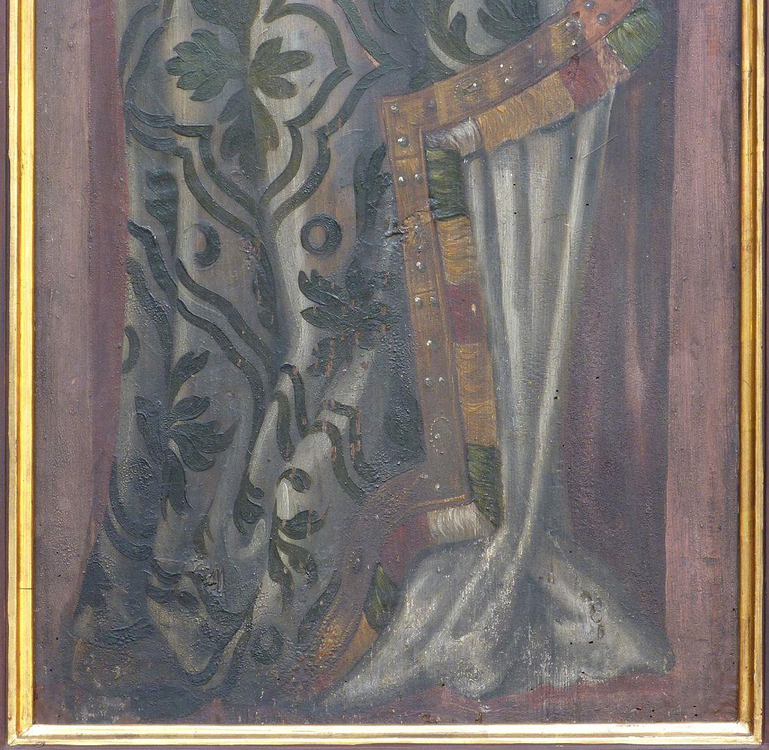 Zwei Altarflügel Kaiserdarstellung, unteres Bilddrittel