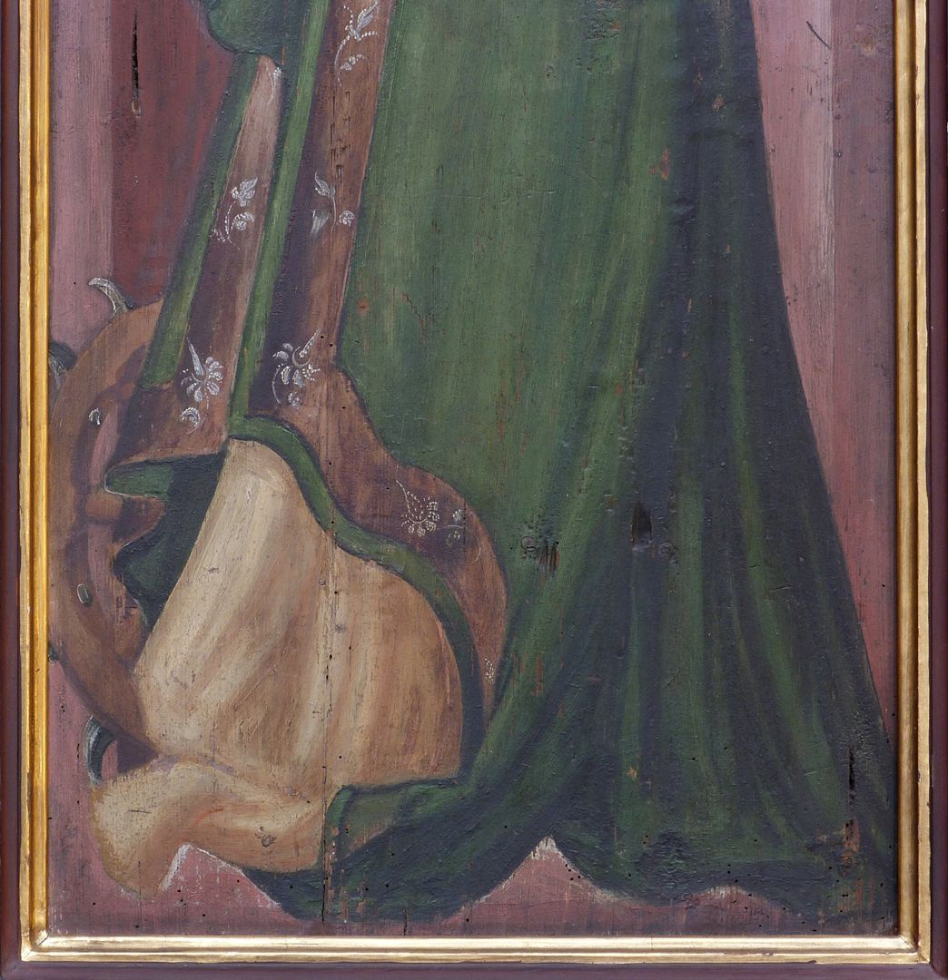 Zwei Altarflügel Hl. Katharina, unteres Bilddrittel