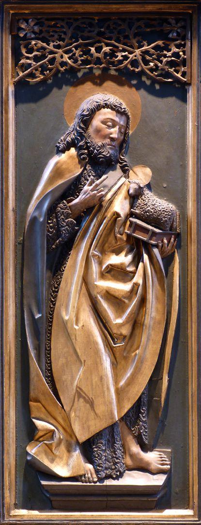 St. Bartholomäus, Hochaltar Linke Flügelinnenseite, Johannes d.T.