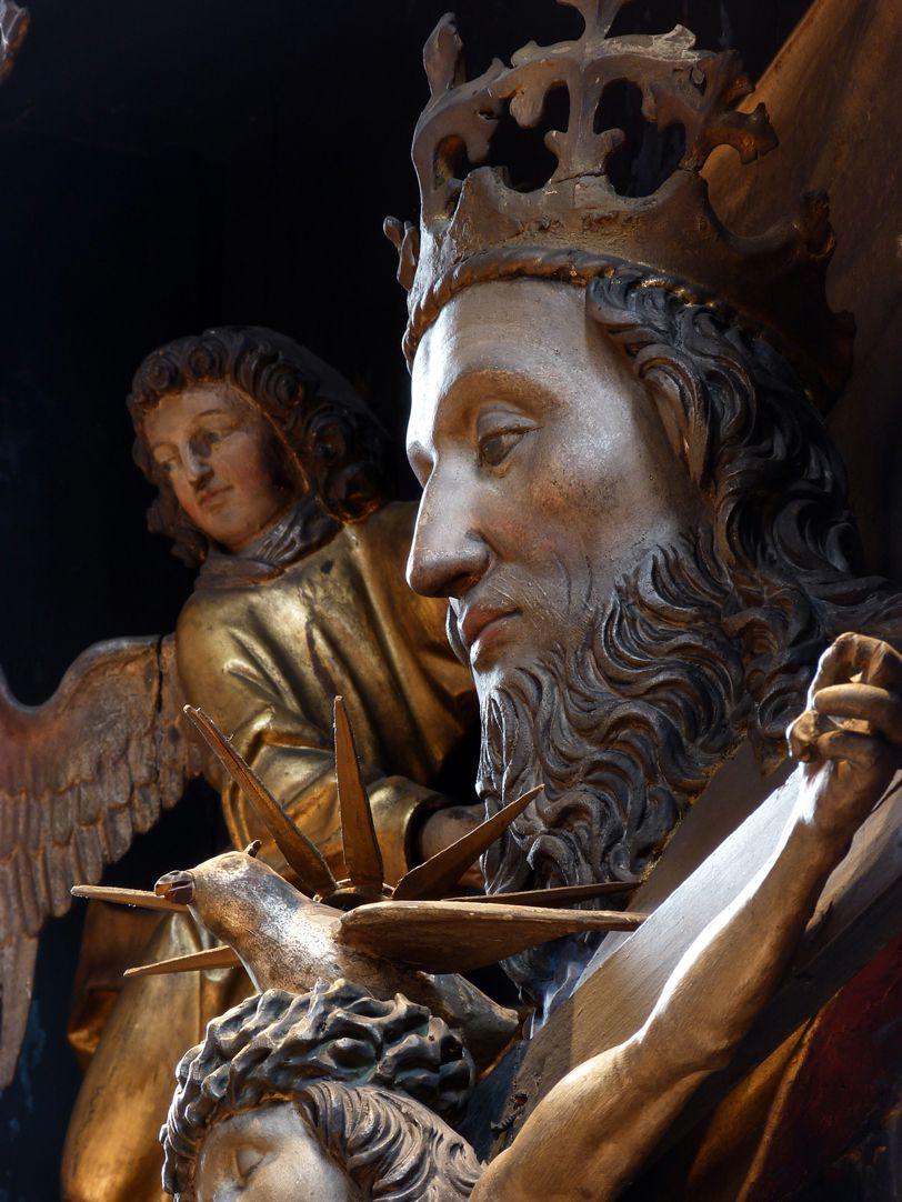 St. Bartholomäus, Hochaltar Mittelschrein, Gott Vater, Heiliger Geist