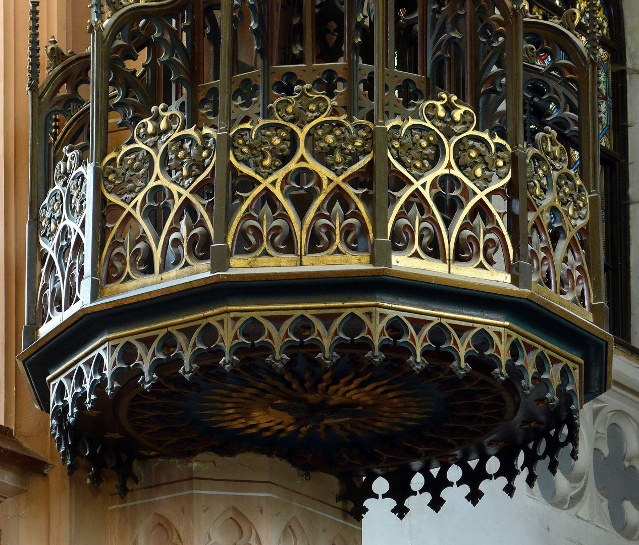 Parish Church St. Peter´s (Sonneberg) Pulpit ceiling, detail. Design Heideloff, realization Paul Gottlieb Hartung