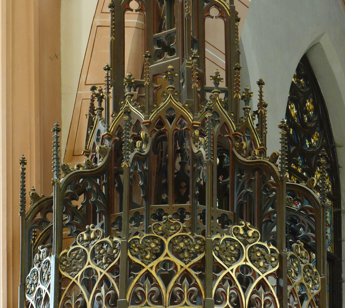 Parish Church St. Peter´s (Sonneberg) Pulpit ceiling, abutments