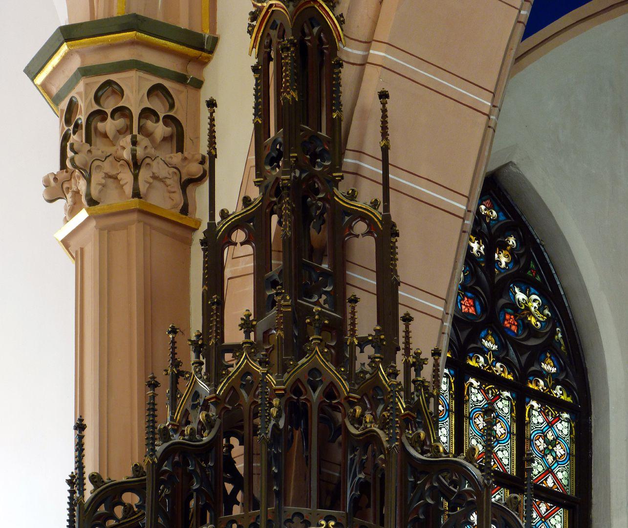 Parish Church St. Peter´s (Sonneberg) Upper part of the pulpit ceiling