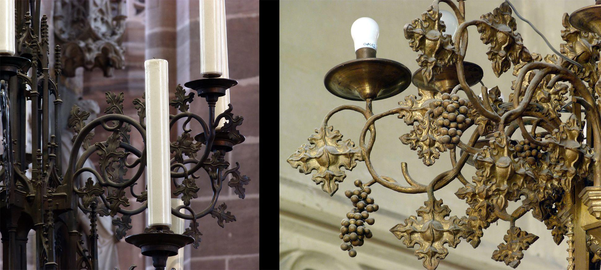 Parish Church St. Peter´s (Sonneberg) Comparison: Chandelier details