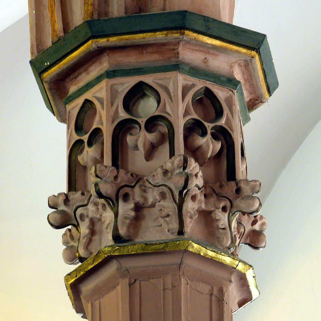 Parish Church St. Peter´s (Sonneberg) Pillar capital, detail