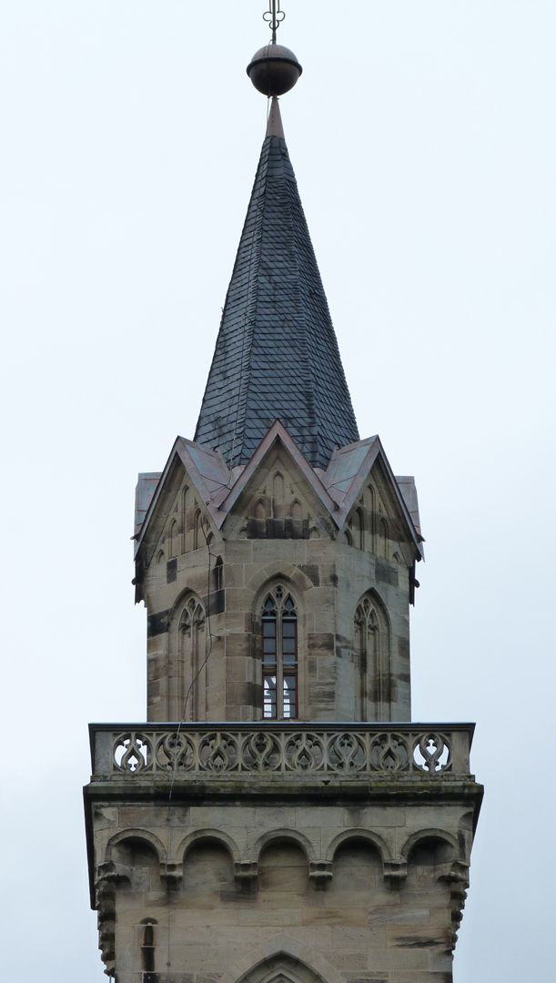 Parish Church St. Peter´s (Sonneberg) Eight-cornered spire with tracery gallery