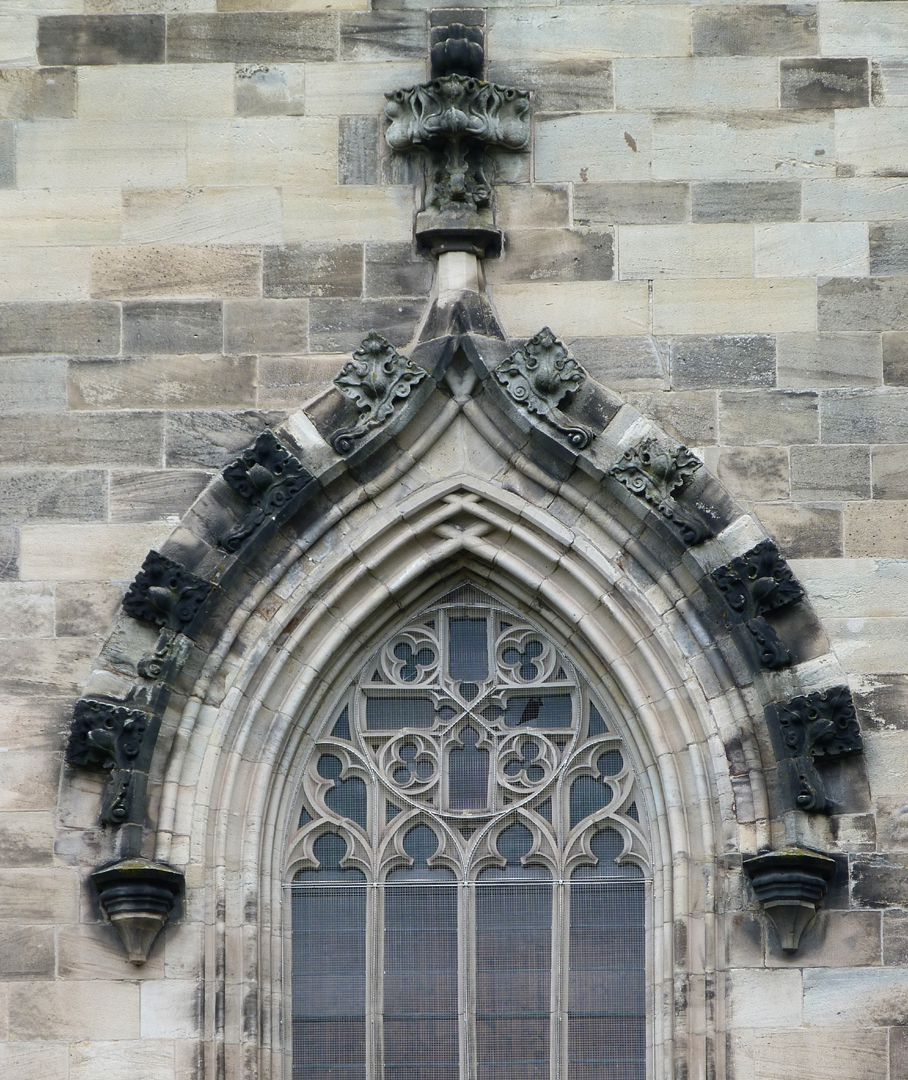 Parish Church St. Peter´s (Sonneberg) Keel arch window with mullions and crockets